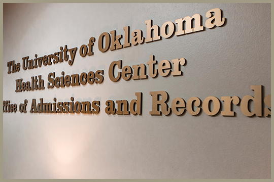 The University of Oklahoma Health Sciences Center, Office of Admissions and Records